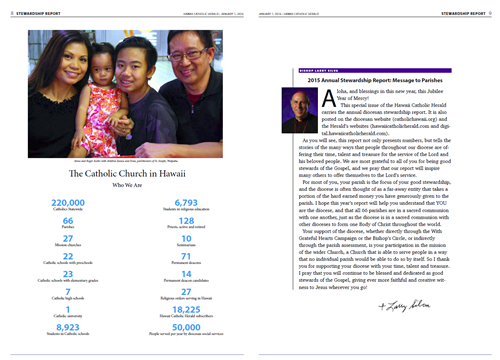 From the 2015 Annual Report in the Hawaii Catholic Herald